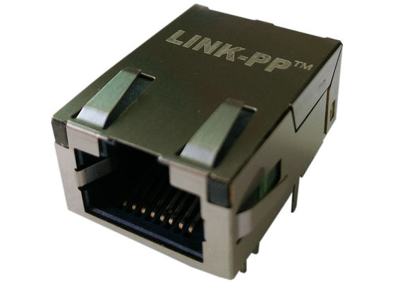 China Pulse J0G-0009NL Low-Profile RJ45 Jack 1x1 Tab-up 10/100/1000Base-T supplier