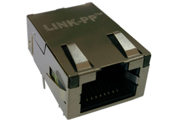 China J0G-0007NL Pulse Low Profile Rj45 10/100BT With Magnetics 1x1 Tab-up 4 Cores supplier
