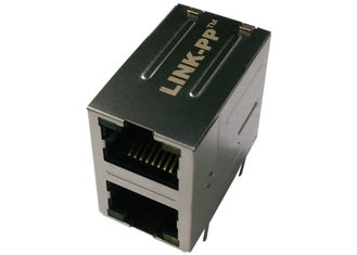 China ARJ21A-MBSD-A-B-EMU2 RJ45 10/100Base-TX 2x1 Jack with Magnetic ABRACON Module supplier