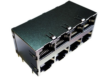 China LPJE308CNL Stacked RJ45 8 Ports supplier