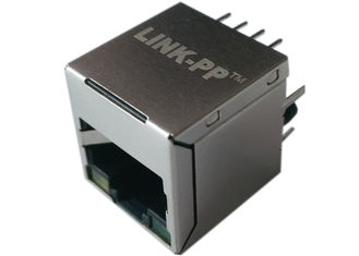 China POE Rj45 Top Entry 180 degree , LPJD0115BENL / LPJD4115BENL, IEEE802.3af supplier