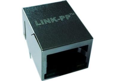 China LPJG0801BBNL Coon Rj-45,Shield Thru-hole W/LEDs&Magnetic ,Gigabit 1:1,RoHs supplier