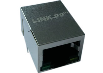China LPJ0037FBNL Coon Rj-45,Shield Thru-hole W/LEDs&Magnetic ,10/100Mbps 1:1,RoHs supplier