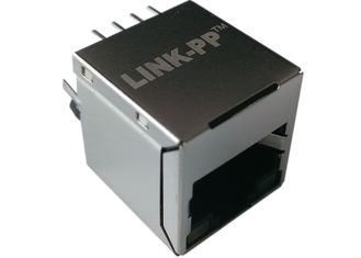 China LPJD0115BGNL Magnetic RJ45 Jack 1 x 10/100 Mbit Ethernet POE functionality supplier
