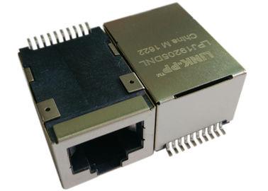 China LPJ19205DNL SMT POE Rj45 Jack , 1x 10/100Mbps IEEE 802.3af Power over Ethernet supplier