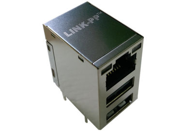 China C893-1DX1-E5 , LPJU5012BGNL RJ45 USB Connector 3 Port 10/100 Base-T supplier