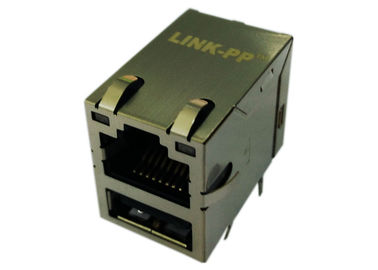 China 43F-1201DYD2NL / LPJU3101AONL RJ45 USB Connector 10/100 Magnetic supplier