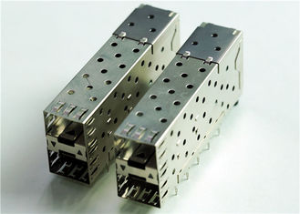 China 76090-5001 CONN CAGE SFP+ 2X1 W/LIGHT PIPE 	THT, R/A, Board Guide, EMI Shielded supplier