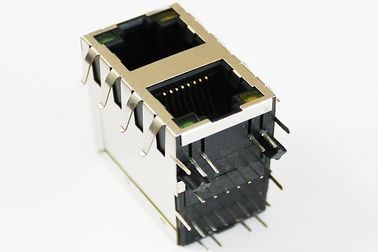 China ARJM21A1-811-BB-EW2 Double Stacked RJ45 MagJacks 2 x 1 Integrated Transformer supplier