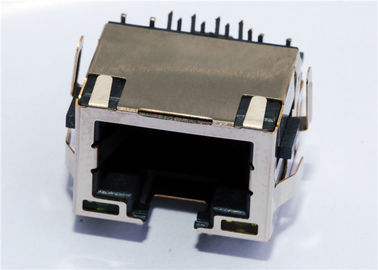 China Shielded Low-Profile RJ45 Connector With LEDS LPJE169AENL supplier