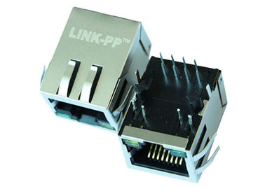 China 1 x 1 Single Port ARJ11B-MBSCB-A-B-ELT2 RJ45 Connector 10/00 Base-t Magnetic supplier