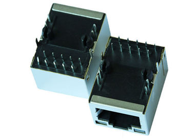 China Right Angle ARJ11D-MDSG-B-A-GMU2 Magnetic RJ45 Modular Jack , PDH RJ45 Jack supplier