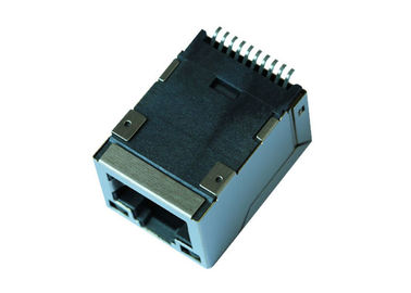 China J3011G21DNLT SMT 1x1 Port RJ45 Magjack Connector With 10/100M supplier