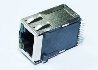 China HBJ-M4B01ANLF Surface Mount RJ45 Jack 1X1 Port Tab Up With 10/100M LPJ3011ABNL supplier