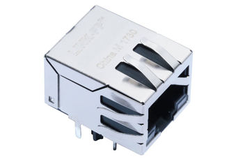 China ARJ11E-MBSD-A-B-EM2 Connector Rj45 Equivalent 10/100Base-T 8P8C PCB Jack supplier