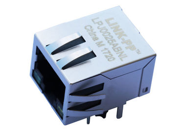 China SC853-010CNL Low Profile RJ-45 Jack with 1000 Base - T Magnetic G / Y LEDs LPJ0025ABNL supplier