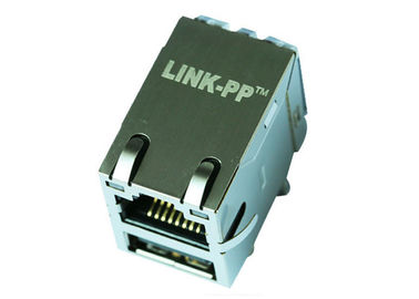 China HR981191C RJ45 With Single USB Connector 10/100 Magnetic LPJU3101AONL supplier