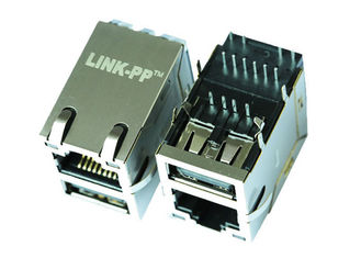 China MRJF-1UT441RS RJ45 With Single USB Connector 10/100 Magnetic LPJU3101AONL supplier