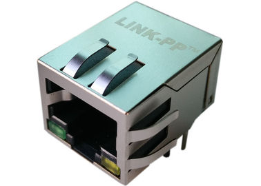 China 203225 1000 Base - T Magnetic Single Port RJ45 Jack With LED LPJG0827GENL supplier