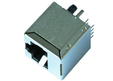 China 51F-1202ND2NL  Vertical Entry RJ45 Jack With 10/100 Magnetic LPJD0011DNL supplier
