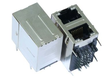 China Stacked RJ45 Connector Dual 1G/bit RJ45´s With Separated Middle Tabs LPJG17102ADNL supplier