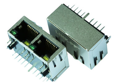China HR911275C 1x2 Port Rj45 Connector With 10 Base - TX Magnetics LPJ26255ABNL supplier