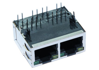 China JG0-0031NL Multi Port POE RJ45 Connector With Shield EMI Tabs LPJ28002A34NL supplier