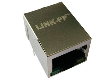 China HY911106AE 1x1 Port RJ45 Female Connector 10/100 Base - T With LEDs LPJ4011FBNL supplier