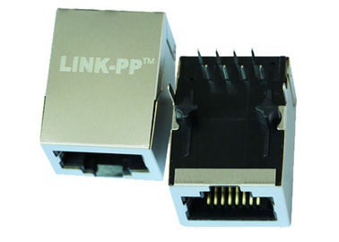 China HR901175A Single Port RJ45 Connector Tab Down With 10 Base - T Magnetic LPJ0055DNL supplier