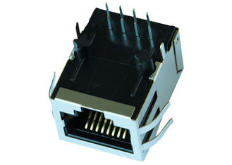 China HFJ11-1G02AA Tab Down Single Port RJ45 Modular Jack With Magnetic LPJG0805CNL supplier