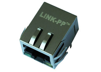 China Single Port Magnetic POE RJ45 Pinout LPJP4320GENL With Shield EMI Tabs supplier