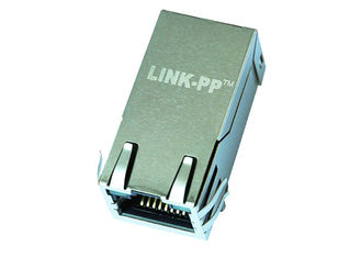 China Single Port 4 wire PoE Rj45 100/1000Base-T Modular Jack 100w LPJK6078AHNL supplier