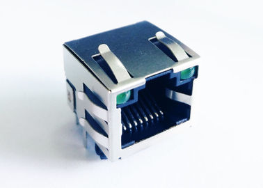 China RJHSE-5485 Single Port Rj45 Female Connector With LEDs LPJE101AWNL supplier
