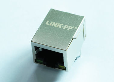 China 1x1 Port 1000Mbps POE RJ45 Modular Jack With Transformer LPJG0926HENL supplier
