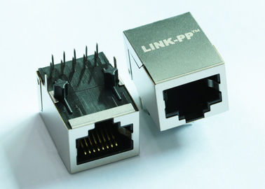 China LPJG4928DNL POE+ 1x1 Port RJ45 Connector With 1000 Base - T Magnetics supplier
