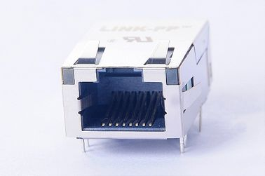 China 1X1 Tab Up Magnetic RJ45 Jack , 10/100Base RJ45 PCB Connector 0875-1X1T-K9 supplier