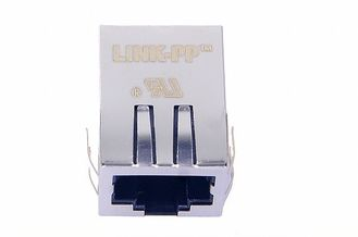 China 1X1 Tab Down Magnetic RJ45 Jack , Low Profile RJ45 PCB Connector L811-1X1T-03 supplier