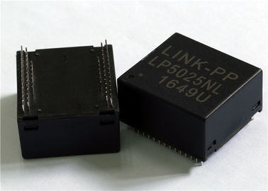 China 4x Gigabit Integrated Magnetic Transformers Four Port 10/100/1000Base-T LP5025NL supplier