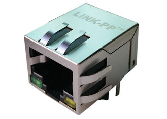 China HFJ11-E003E-S4L21RL RJ45 Magnetic 1x10/100Mbps, Right Angle Shield LPJ4012GDNL supplier