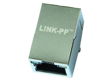 China ZG511173DE Gigabit Shielded 1x1 Port RJ45 Female Connector LPJG17411BHNL supplier