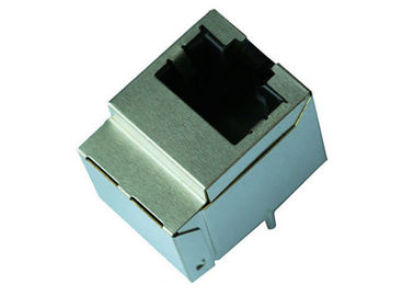 China HFJV1-1G11RL Rj45 Vertical Mount HFJV1-1G16RL 10 / 100 / 1000Base-T Ethernet supplier