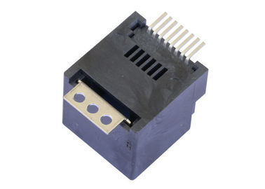 China 1-338088-6 Unshielded 1X1 SMT RJ45 Modular Jack Tab Down LPJE29972 supplier