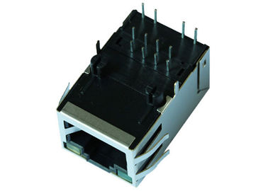 China JGCA1T1004PPW-GY 1x1 Port 8P8C RJ45 Female Connector With POE++ LPJK6079AHNL supplier