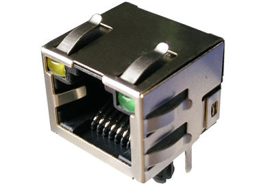 China DY9758-1101 Shielded 1x1 Port 8P8C RJ45 Female Connector With LEDs LPJE101AHNL supplier