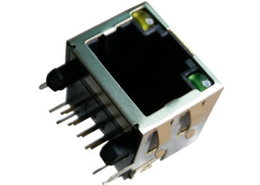 China 42017-00XXX1 Tab Up RJ45 Modular Jack 8P8C Shielded R/A With LED LPJE101AHNL supplier