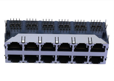 China J0B-3563NL 2x6 Port 4PAIR POE 120W Rj45 Modular Jack With 1000Base-T supplier