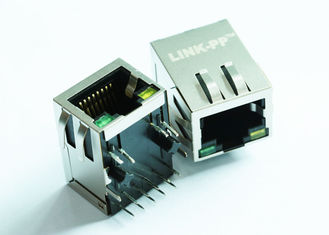 China ARJM11A1-805-AB-CW2 RJ45 Single Port 2.5G BaseT , W / LED, EMI Fingers, Tab Up supplier