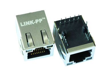 China ARJM11C7-805-AD-EW4 RJ45 Connector 1x1 Port With 2.5G Mbps W/ LED EMI Fingers supplier
