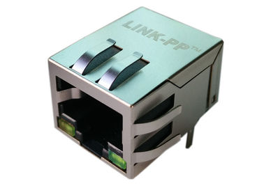 China 1840409-6 RJ45 Single Port Magjack Connector Through Hole 10/100/1000 Base-T supplier