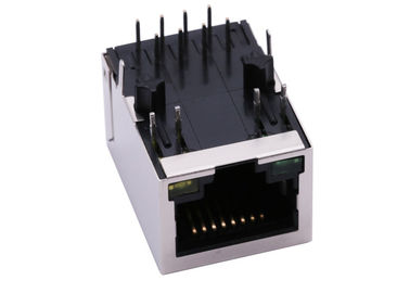 China ARJM11B1-811-AN-ER2-T / ARJM11B3-811-AN-ER2-T 5G Base-T Magnetic RJ45 Jack W/LED supplier